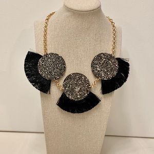 NY&Co Black and Gold Statement Necklace